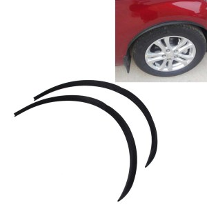 2 STKS Auto Stickers Rubber Ronde Arc Strips Universele Fender Flares Wiel Wenkbrauw Decal Sticker Auto-covers, maat: 75x2 cm