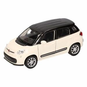 Speelgoed Fiat 500 L zwart Welly autootje 11,5 cm