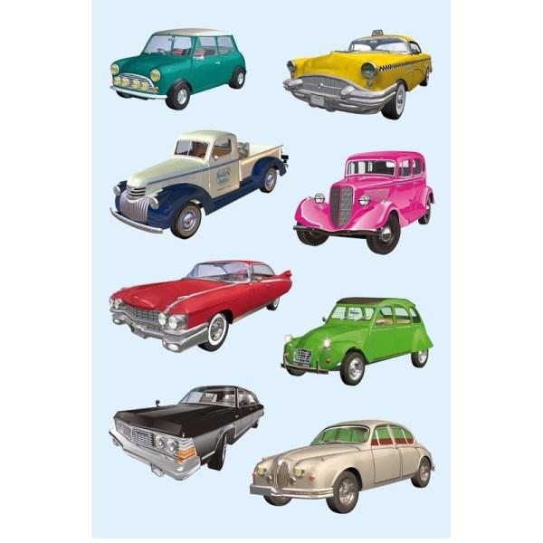 Oldtimers auto stickers 3 vellen