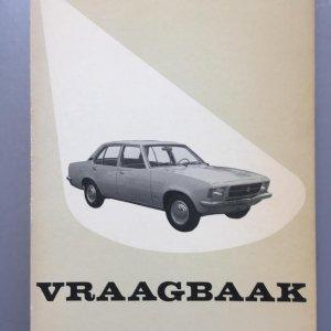 Vraagbaak opel record d 1972-1977