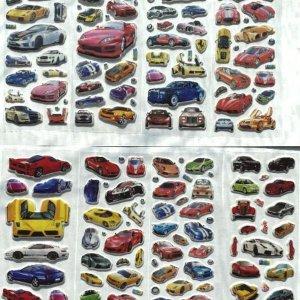 120+ Stickers Auto - 8 Stickervellen Auto's - Verschillende Sets - Auto Stickers - Hobby Stickers