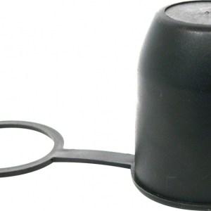 Carpoint trekhaakdop met ring zwart
