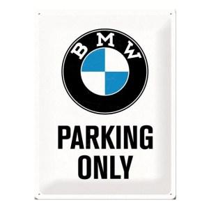BMW parking only bord wit 30 x 40 cm