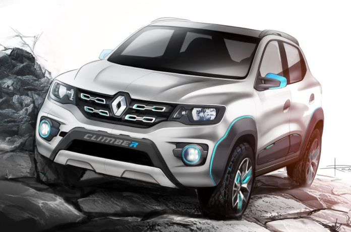 Renault Kwid Climber front three quarter sketch