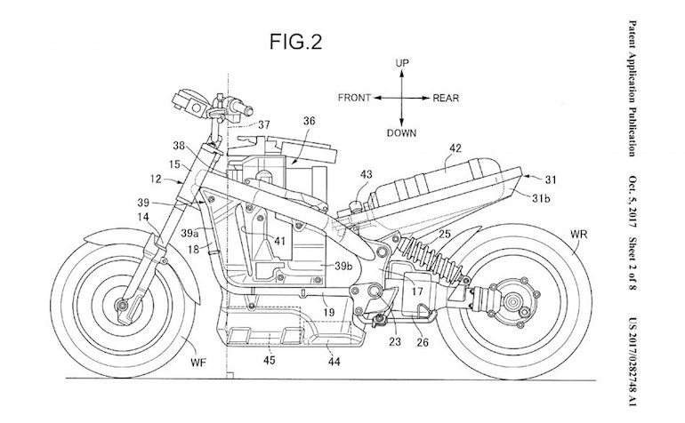 Honda Patents A Hydrogen Fuel Cell Motorcycle