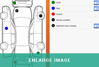 car damage inspection diagram ford starter relay wiring carside and evhc app autowork online interested