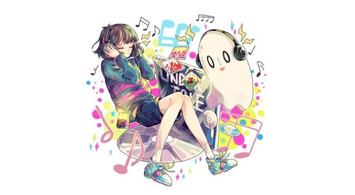 Undertale Wallpaper Frisk et Napstablook par...