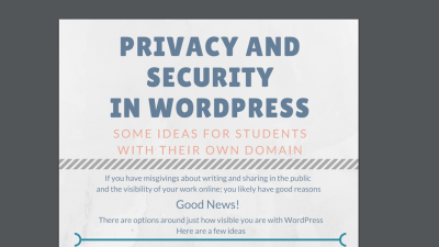 Privacy and Security in DoOO: First attempt at student resource