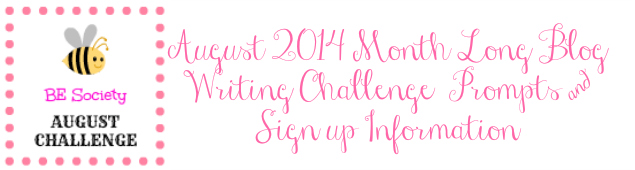 August Writing Challenge with @TheBESociety Prompts & Signup Info
