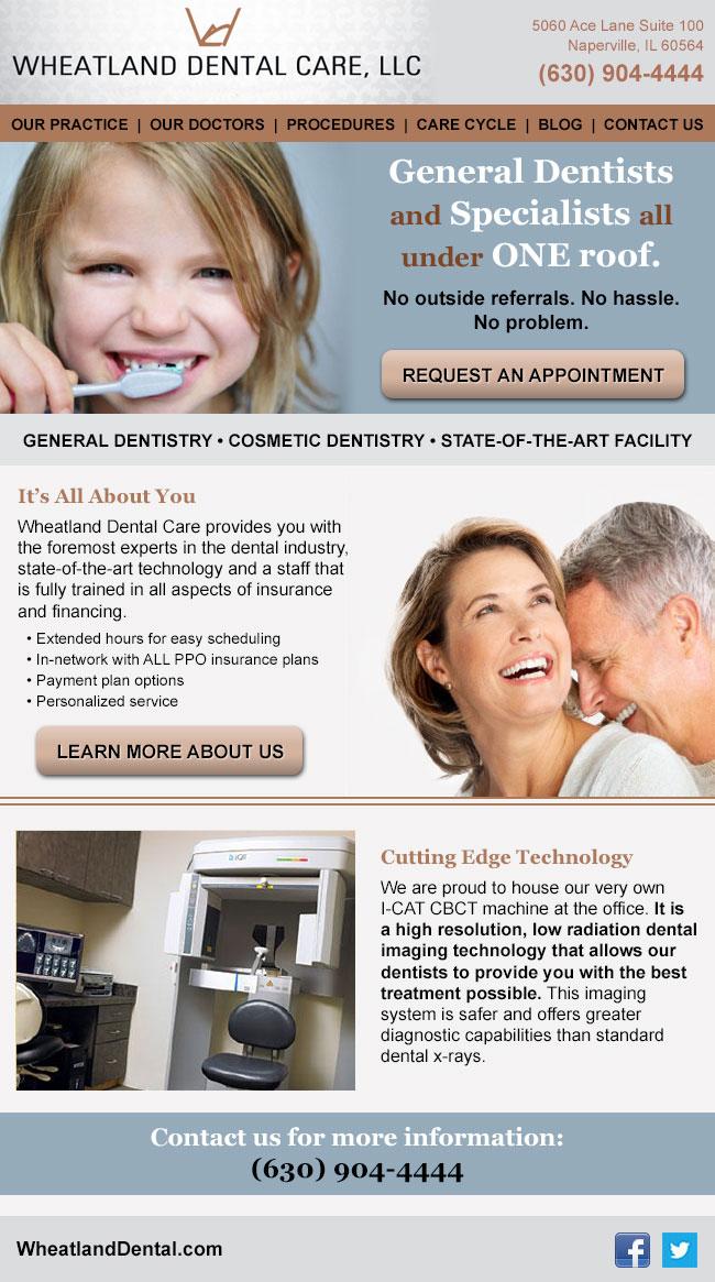 Wheatland Dental: Email Design