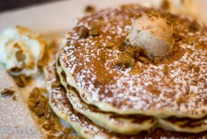 Over Easy Café: Blueberry Crunch Pancakes