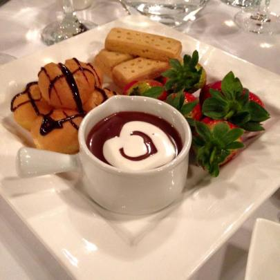 The delicious pudding, I don't know what the woman at the next table was complaining about!