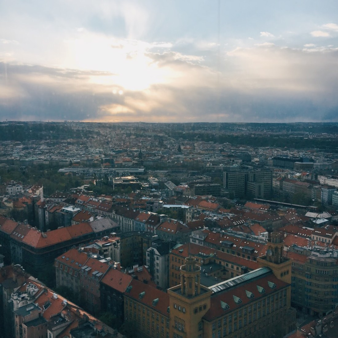 View from Prague Zizkov radio tower