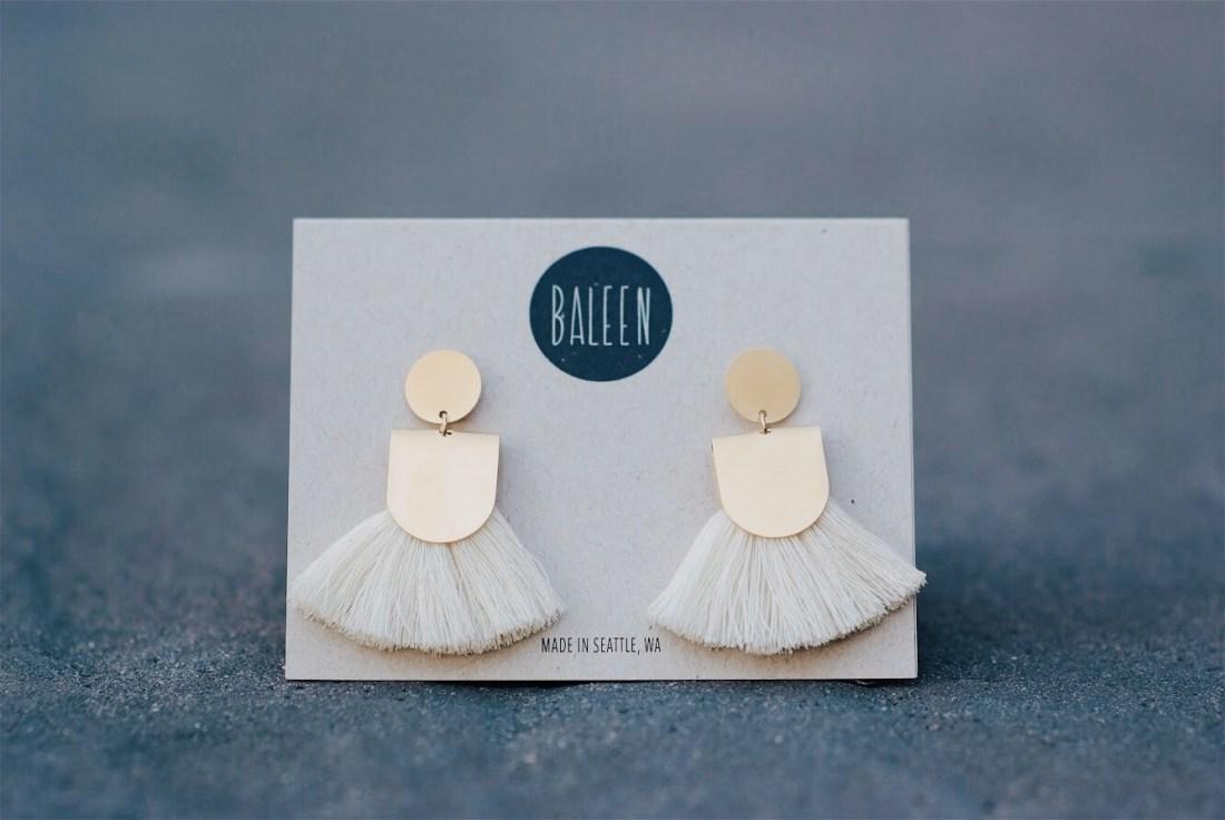 Baleen Jewelry Pinna Drop Earrings