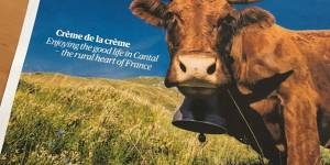 La une du Guardian travel pour le Cantal ... la crème de la crème dit-il !
