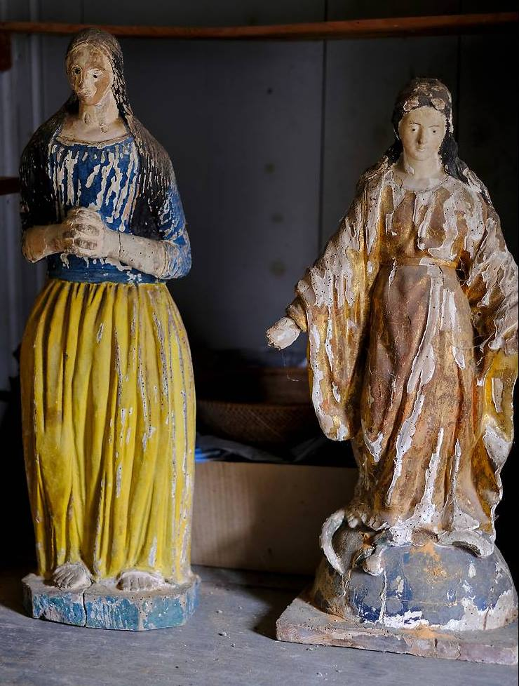 statues de l'église de Lussaud