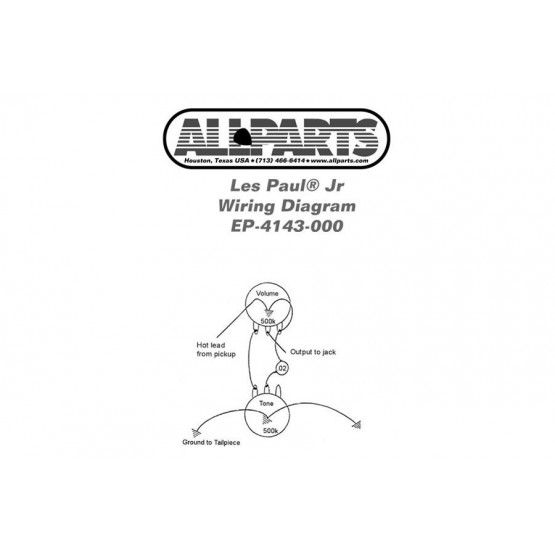 ALL PARTS EP4143000 KIT DE CABLE PARA GUITARRA LES PAUL O