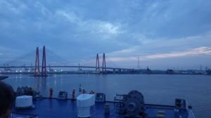 名古屋港を去る