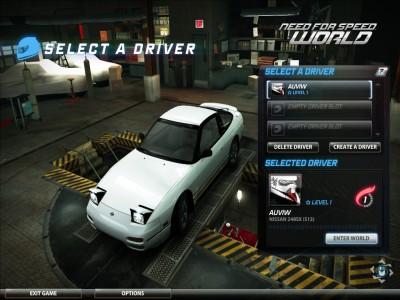 ドライバーを選んでIn World!