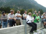 Auch der Bürgermeister von Lorüns war vor Ort und diskutierte mit.