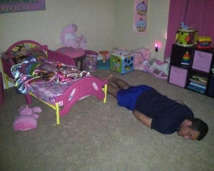 man on the floor