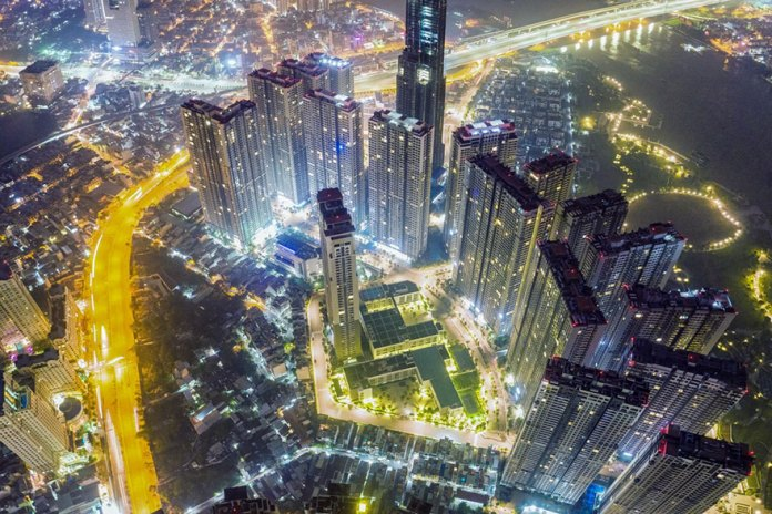 Sai Gon By Night city lights