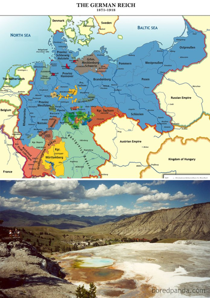 Yellowstone National Park Was Created In 1872, Just One Year After The German States Unified Into Modern-Day Germany