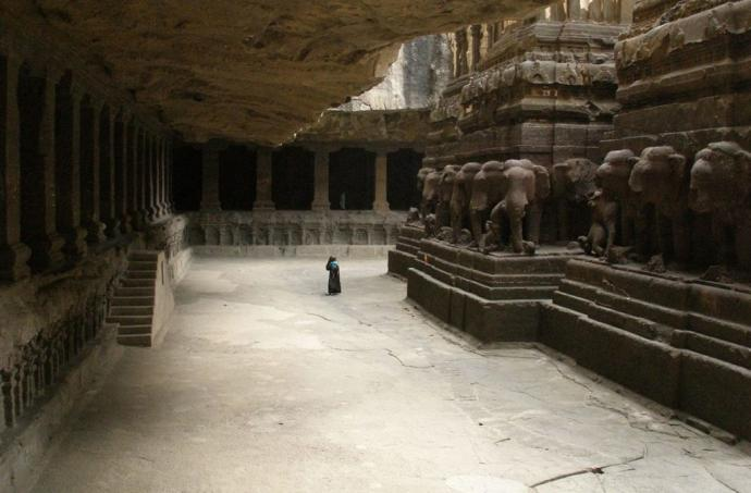 inside of The Kailasa Temple