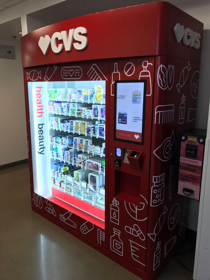 CVS Vending Machine Full Of Medicine And Hygiene Products