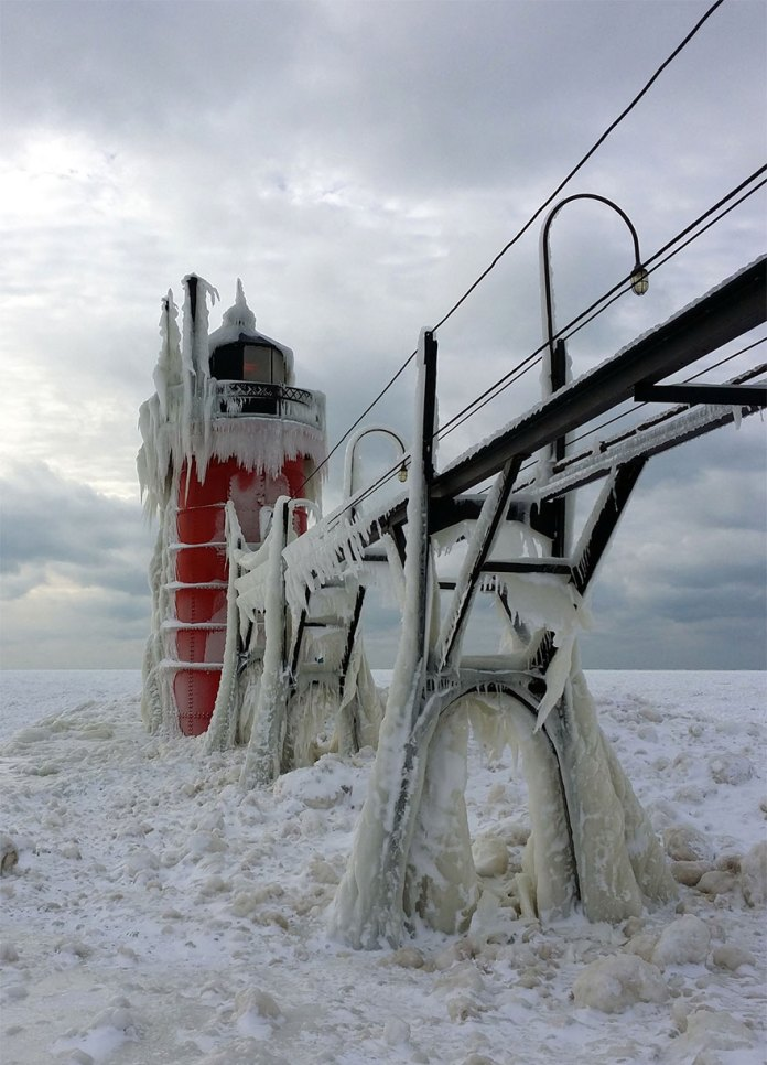 frozen light house
