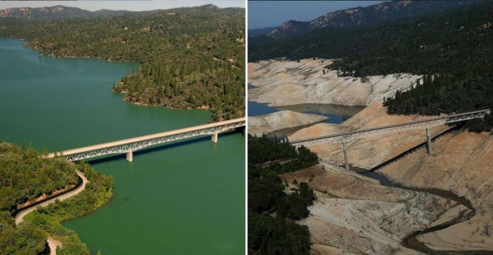 Lake Oroville, California. July 2010- August 2016