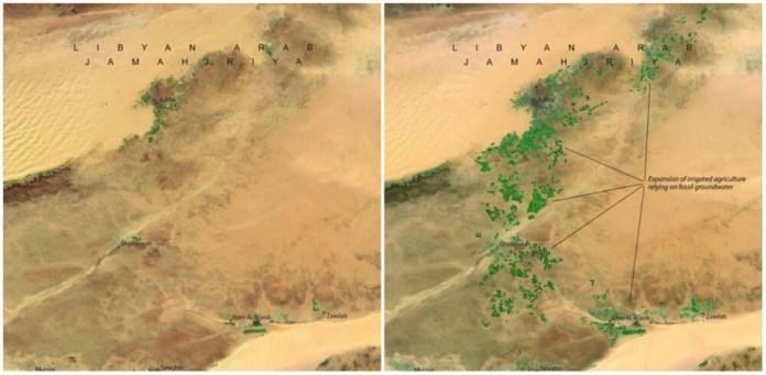 Great man-made river, Libya. April 1987- April 2010