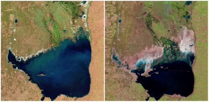 Mar Chiquita Lake, Argentina. July 1998- September 2011