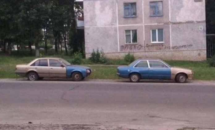 These Two Cars Shifted Colors