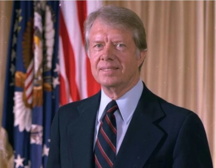 The former US president Jimmy Carter