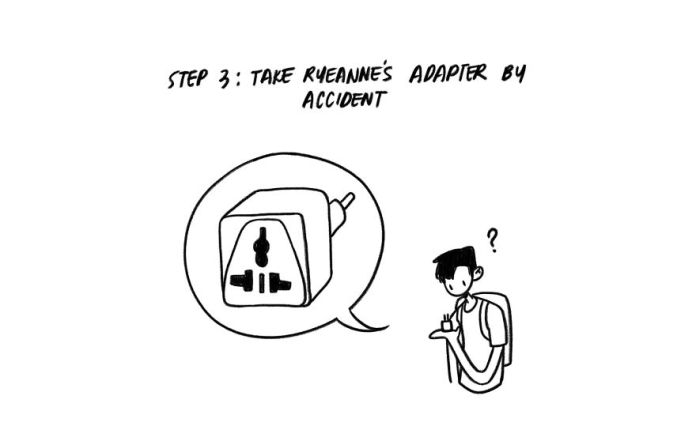 Taking the girl's adapter