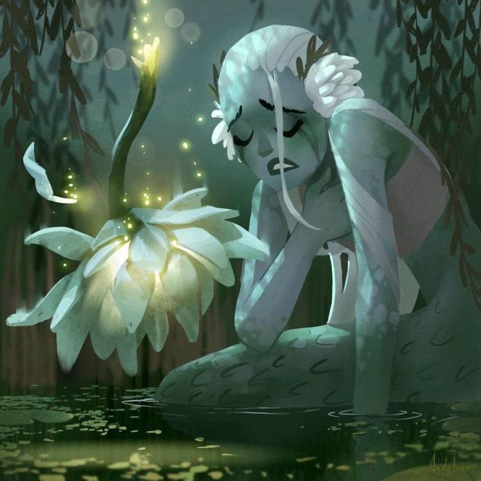 May the mermaid of a lily lake by Andy Ivanov