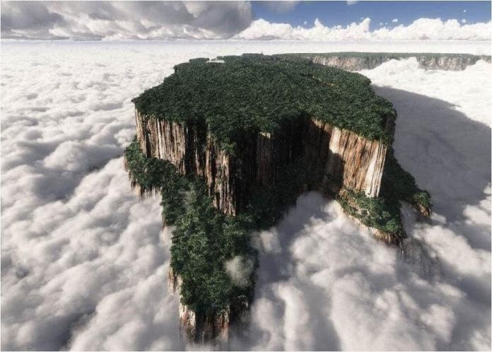 Mount Roraima located in eastern Venezuela