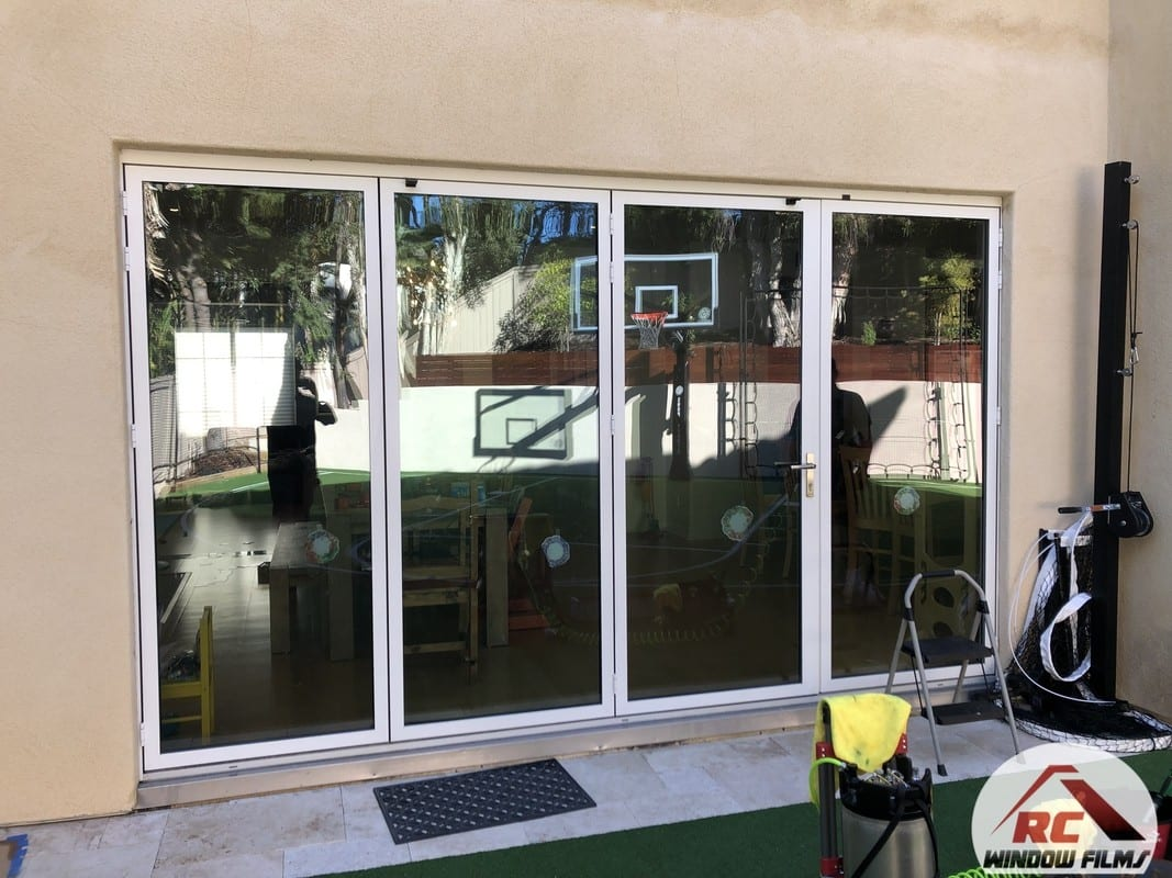 Exterior window film for a home