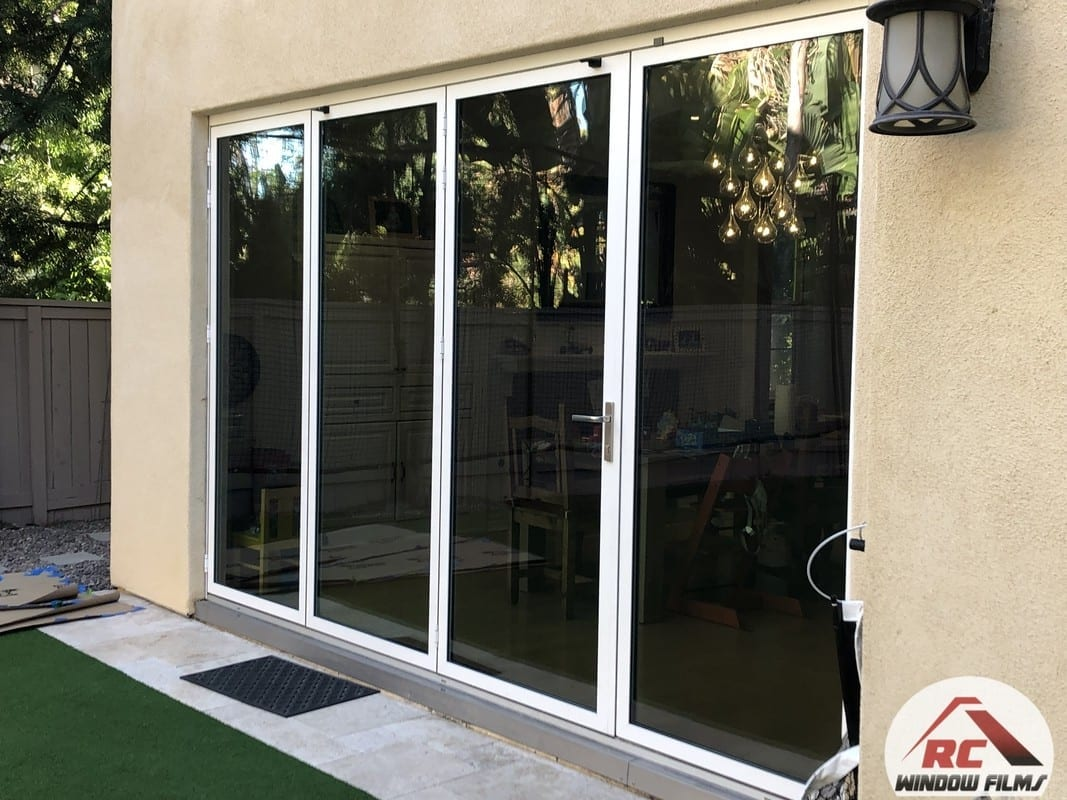 Exterior Tint applied on a home in san diego