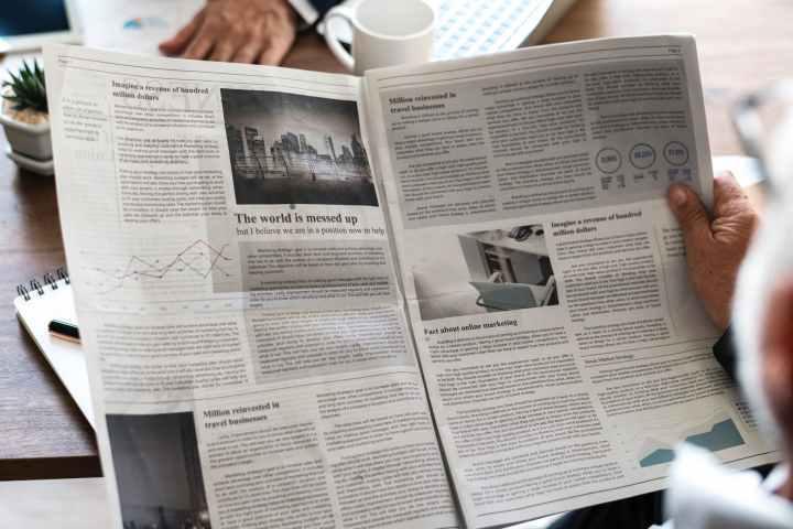 gray newspaper