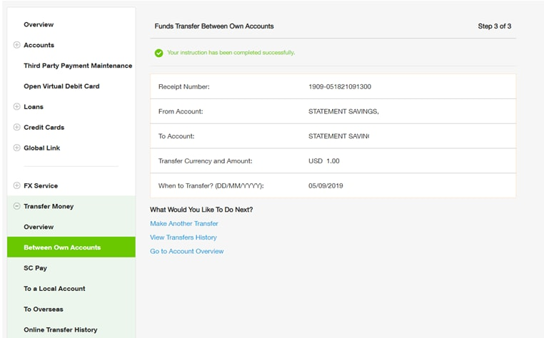 Online Banking Fund Transfer Ways To Bank Standard Chartered China