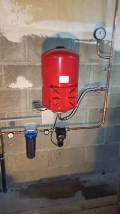 adduction d'eau de puis sur reseau wc