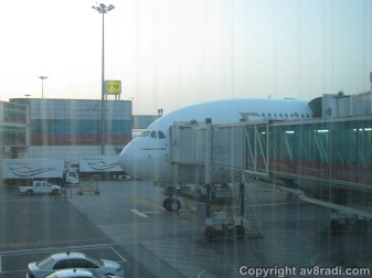 Home at last! Taken after de-planing at DXB