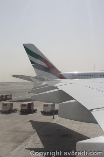 View off my window (1), there another A380 beside us