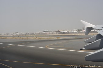 Entering Active Runway…Note the MD-80 landing in the background