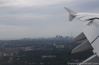 Downtown Toronto at a distance…on finals into YYZ