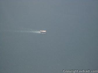 A cargo ship probably heading to Iran