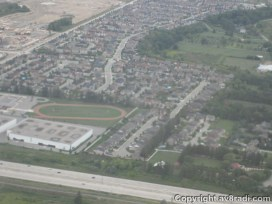 A suburb …taken on approach to YYZ