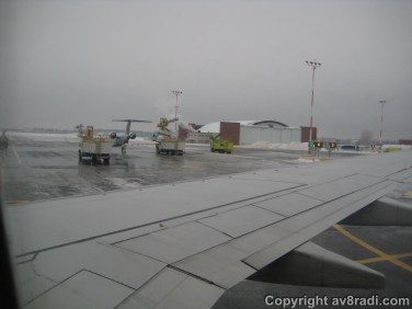 Taxing to the De-icing facility in YOW